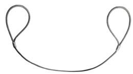 Eslingas en cable con férulas en acero